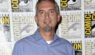 "FILE - In this July 11, 2015 file photo, James Dashner, author of ""Maze Runner"" attends the 20th Century Fox press line at Comic-Con International in San Diego. Dashner has been dropped by his literary agent. In recent days, Dashner has faced allegations of sexual harassment. (Photo by Richard Shotwell/Invision/AP, File)"