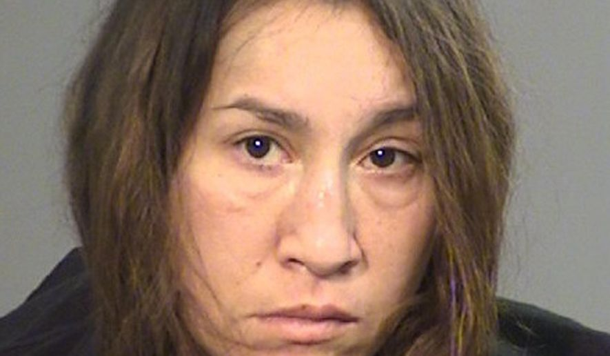 This undated photo provided by the Jackson County Sheriff's office shows Diane Wilcox. The Medford, Ore., woman was arrested Tuesday, Feb. 13, 2018, on suspicion of drunken driving after authorities say she struck garbage cans and drove into a ditch during a Taco Bell run. (Jackson County Sheriff's Office via AP)