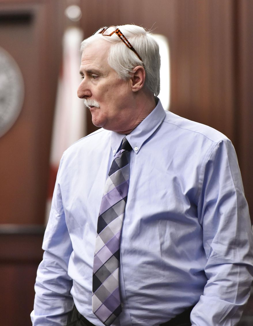FILE - In a Monday, Feb. 12, 2018 file photo, Donald Smith enters the courtroom on opening day of his murder trial in the death of 8-year-old Cherish Perrywinkle, at the Duval County Courthouse in Jacksonville, Fla. On Wednesday, Feb.14, 2018, it took less than 15 minutes for a jury to convict Smith of abducting, raping and murderingCherish Perrywinkle.  (Will Dickey/The Florida Times-Union via AP, Pool, File)