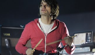"FILE - This April 14, 2012 file photo shows Jonny Greenwood of Radiohead performing at the Coachella Valley Music and Arts Festival in Indio, Calif. Greenwood is nominated for an Oscar for original score for his work on the film, ""Phantom Thread."" (AP Photo/Chris Pizzello, File)"