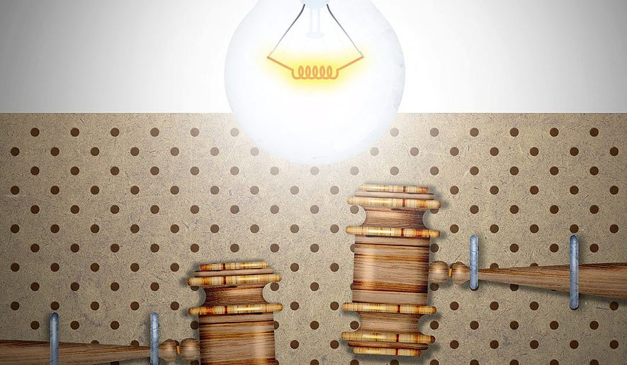 Patent Law Working Properly Illustration by Greg Groesch/The Washington Times