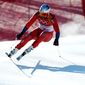 Norway's Aksel Lund Svindal skis during the men's downhill at the 2018 Winter Olympics in Jeongseon, South Korea, Thursday, Feb. 15, 2018. (AP Photo/Patrick Semansky) (ASSOCIATED PRESS PHOTOGRAPHS)
