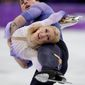 Germany's Aljona Savchenko and Bruno Massot registered their country's first pairs figure skating Olympic gold medal since 1952 on Thursday. (ASSOCIATED PRESS)