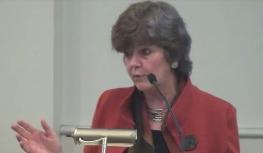 """Duke University professor Nancy MacLean is facing backlash after she suggested during a discussion about her 2017 book """"Democracy in Chains"""" that many of the founders of libertarianism seemed to be on the """"autism spectrum."""" (YouTube)"""