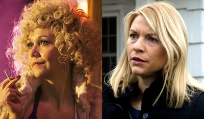 "Maggie Gyllenhaal as Candy in ""The Deuce: The Complete First Season"" and (Claire Danes) as Carrie Mathison  in ""Homeland: The Complete Sixth Season,"" now available on Blu-ray."