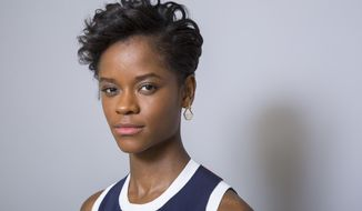 """In this Jan. 30, 2018 file photo, Letitia Wright poses for a portrait at the """"Black Panther"""" press junket at the Montage Beverly Hills in Beverly Hills, Calif.  The film opens nationwide on Friday, Feb. 16. (Photo by Willy Sanjuan/Invision/AP)"""