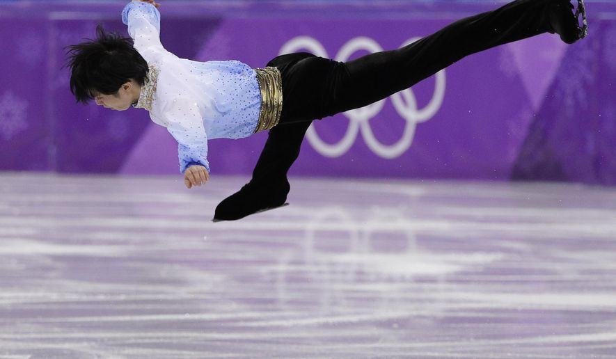 The Latest: Hanyu, Yarnold, Ledeska win gold at Olympics