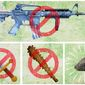 Logical Progression of a Gun Ban Illustration by Greg Groesch/The Washington Times