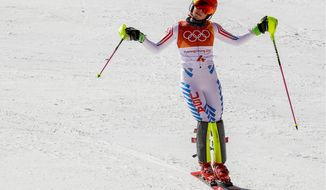 Mikaela Shiffrin finished fourth in a women's slalom that she was expected to win easily on Friday at the Winter Olympics in Pyeongchang, South Korea. She still has a shot at golds in the combined and downhill.