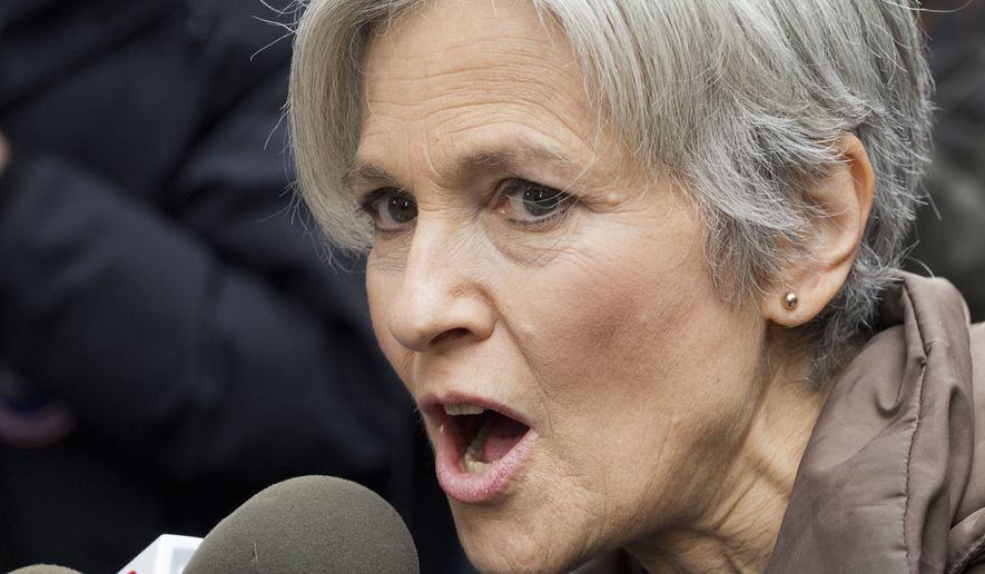 In this Dec. 5, 2016, file photo, Jill Stein, the presidential Green Party candidate, speaks at a news conference in front of Trump Tower in New York. Stein says shes cooperating with a Senate intelligence committee probe into Russian interference in the election. Stein ran against President Donald Trump as a member of the Green Party.   (AP Photo/Mark Lennihan)