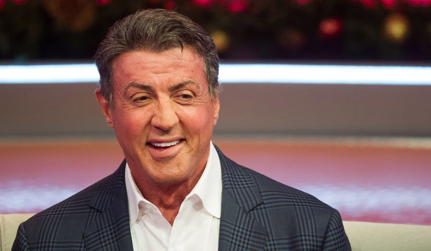 "Sylvester Stallone appears on BET's ""106 & Park"" on Monday, Dec. 16, 2013, in New York. (Photo by Charles Sykes/Invision/AP) ** FILE **"