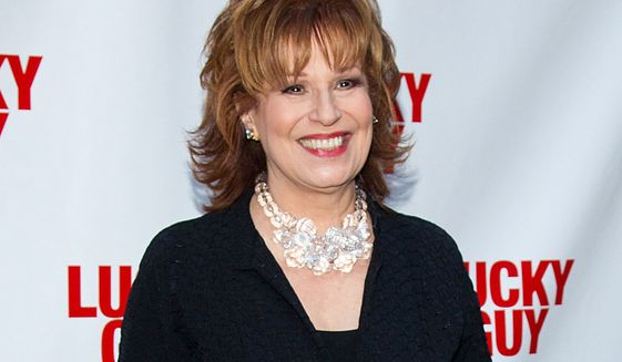 """FILE - In this April 1, 2013 file photo, TV personality Joy Behar arrives at the """"Lucky Guy"""" Opening Night in New York. Behar is returning to """"The View"""" as a co-host, part of an overhauled panel that also will include newcomers Candace Cameron Bure and Paula Faris. ABC News said Tuesday, Aug. 24, 2015, that the trio will join returning moderator Whoopi Goldberg and co-hosts Raven-Symoné and Michelle Collins on the daytime talk show. (Photo by Dario Cantatore/Invision/AP, File)"""
