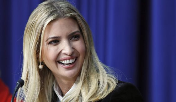 Ivanka Trump, the daughter of President Donald Trump, speaks during a panel at the Eisenhower Executive Office Building on the White House complex in Washington on Jan. 16, 2018. (Associated Press) **FILE**