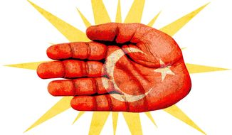 Ottoman Slap Illustration by Greg Groesch/The Washington Times