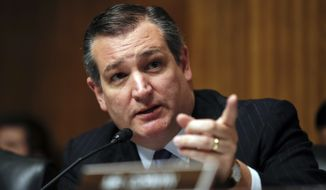 Senate Judiciary Committee member Sen. Ted Cruz, R-Texas, speaks during a Senate Judiciary Committee hearing on nominations on Capitol Hill in Washington, Wednesday, Nov. 15, 2017. (AP Photo/Carolyn Kaster)