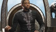 """This image released by Disney shows Chadwick Boseman in a scene from Marvel Studios' """"Black Panther."""" (Matt Kennedy/Marvel Studios-Disney via AP)"""