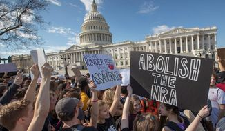 Students from Maryland rally at the U.S. Capitol in solidarity with those affected by the shooting at a high school in Parkland, Florida. (Associated Press)