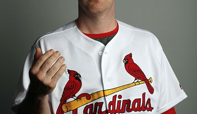 JEDD GYORKO of the St. Louis Cardinals baseball team. This image reflects the Cardinals active roster as of Feb. 20, 2018 when this image was taken. (AP Photo/Jeff Roberson)