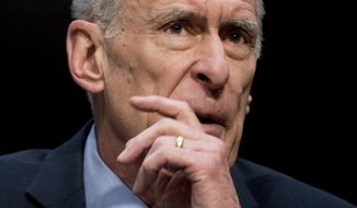 FILE - In this Feb. 13, 2018, file photo, Director of National Intelligence Dan Coats speaks at a Senate Select Committee on Intelligence hearing on worldwide threats in Washington. The Russians are going to try it again. Even President Donald Trump's intelligence chiefs say so. But with congressional primaries just two weeks away, the U.S. has done little to aggressively combat the kinds of Russian election meddling that was recently unmasked in federal court. (AP Photo/Andrew Harnik, File)