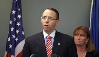 Deputy Attorney General Rod Rosenstein is said to have ordered the updated manual. (Associated Press/File)