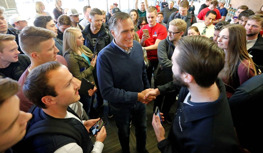 Former presidential candidate Mitt Romney emerged in 2016 as a leading voice of anti-Trump Republicans. Mr. Trump's endorsement of Mr. Romney in his Senate bid in Utah has baffled attendees at the Conservative Political Action Conference. (Associated Press)