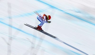 The United States' Mikaela Shiffrin took the silver medal on Thursday in the women's combined downhill in Jeongseon, South Korea.
