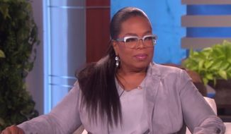 "Oprah Winfrey appears on ""The Ellen DeGeneres Show,"" Feb. 22, 2018. (Image: ""The Ellen DeGeneres Show"" screenshot)"