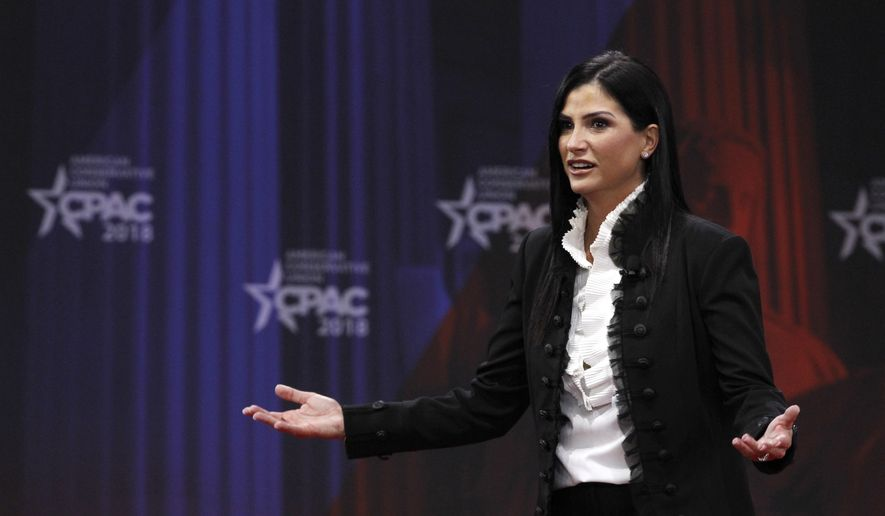 Dana Loesch, spokesperson for the National Rifle Association, speaks at the Conservative Political Action Conference (CPAC), at National Harbor, Md., Thursday, Feb. 22, 2018. (AP Photo/Jacquelyn Martin) ** FILE **