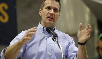 FILE - In this Jan. 29, 2018, file photo, Missouri Gov. Eric Greitens speaks in Palmyra, Mo. A St. Louis grand jury has indicted Greitens on a felony invasion of privacy charge related to the Republican's affair with a woman in 2015. St. Louis Circuit Attorney Kim Gardner announced the indictment Thursday, Feb. 22, 2018. She launched an investigation in January after Greitens admitted to an affair with his St. Louis hairdresser that began in March 2015. He was elected governor in November 2016. (AP Photo/Jeff Roberson, File)