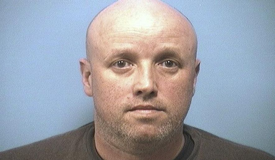 """This photo provided by Shelby county jail shows William Jeffrey West.  West, the husband of an online exhibitionist whose partially nude body was found outside her suburban home was arrested Thursday, Feb. 22, 2018,  in her killing, an Alabama police chief said. West, 44, is being charged with murder in the death of his 42-year-old wife, Kathleen Dawn West, Calera Police Chief Sean Lemley said at a news conference.""""He was the suspect from the very beginning,"""" Lemley said. (Shelby county jail via AP)"""