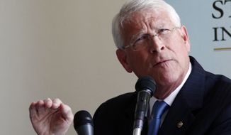 Sen. Roger Wicker was endorsed by President Trump a day before the senator's likely primary opponent, state Sen. Chris McDaniel, is expected to announce a primary bid to challenge Mr. Wicker.  (AP Photo/Rogelio V. Solis, File)