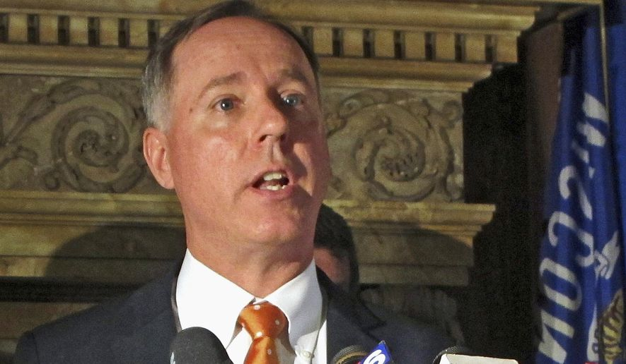 "FILE - In this Sept. 7, 2016, file photo, Wisconsin Assembly Speaker Robin Vos speaks at a news conference in Madison, Wis. Vos said Friday, Feb. 23, 2018, that if the Senate wants to kill a tax cut that Gov. Scott Walker has made a top priority, they can ""take the blame."" (AP Photo/Scott Bauer, File)"