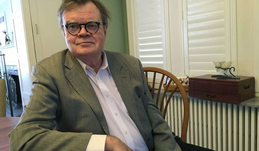 """In this Friday, Feb. 23, 20189 photo, Garrison Keillor poses for a photo in Minneapolis.  Keillor discusses allegations of sexual harassment in his first extended interview since Minnesota Public Radio severed ties with the former """"A Prairie Home Companion"""" creator and host in November. (AP Photo/Jeff Baenen)"""