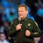 Broward County Sheriff Scott Israel speaks before a CNN town hall broadcast, Wednesday, Feb. 21, 2018, at the BB&T Center, in Sunrise, Fla. (Michael Laughlin/South Florida Sun-Sentinel via AP) ** FILE **