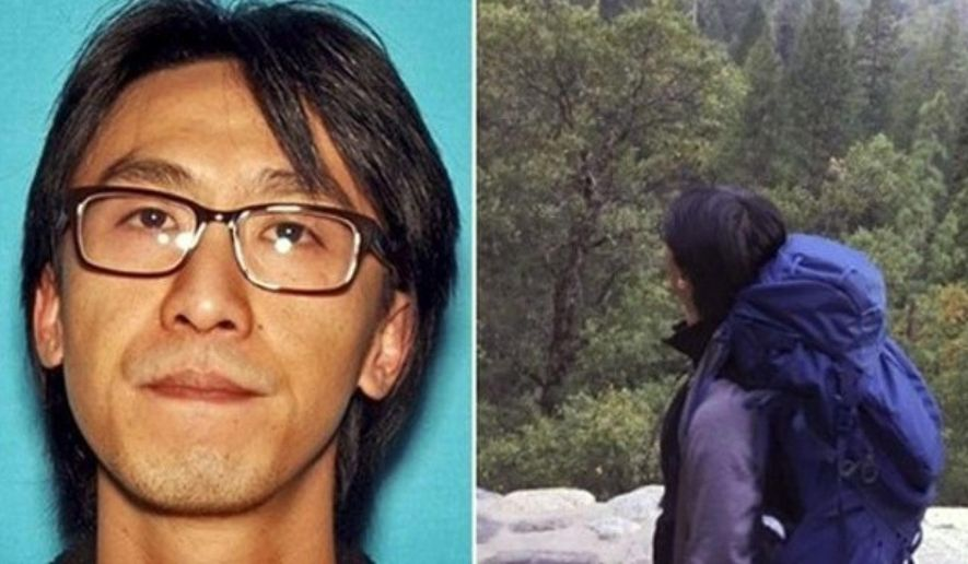 This undated photos released by the National Park Service shows Alan Chow, of Oakland, Calif. Chow, who was backpacking alone, was spotted from a National Park Service helicopter around noon Friday, Feb. 23, 2018, above Wapama Fall in the Hetch Hetchy area after an extensive search the past several days. (National Park Service via AP)