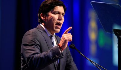 California state Senate leader and U.S. Senate candidate Kevin de Leon says he's part of a new crop of progressive leaders fighting for single-payer health care, full protections for illegal immigrants and stiffer efforts to stem climate change.