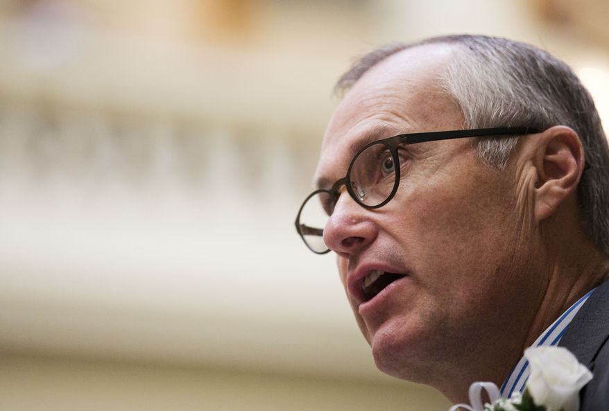 In this Jan. 11, 2016 file photo Georgia Lt. Gov. Casey Cagle is shown speaking at a memorial ceremony honoring five Georgia Southern University nursing students who were killed in an April 2015 car accident. (AP Photo/David Goldman)