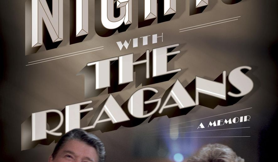 """This cover image released by Simon & Schuster shows """"Movie Nights with the Reagans,"""" a memoir by Mark Weinberg. (Simon & Schuster via AP)"""