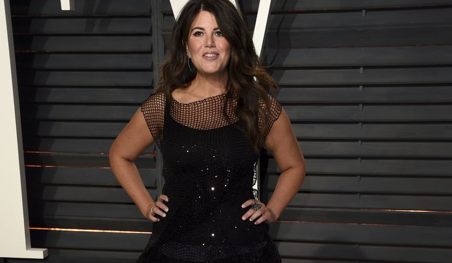 Monica Lewinsky arrives at the Vanity Fair Oscar Party on Sunday, Feb. 26, 2017, in Beverly Hills, Calif. (Photo by Evan Agostini/Invision/AP)
