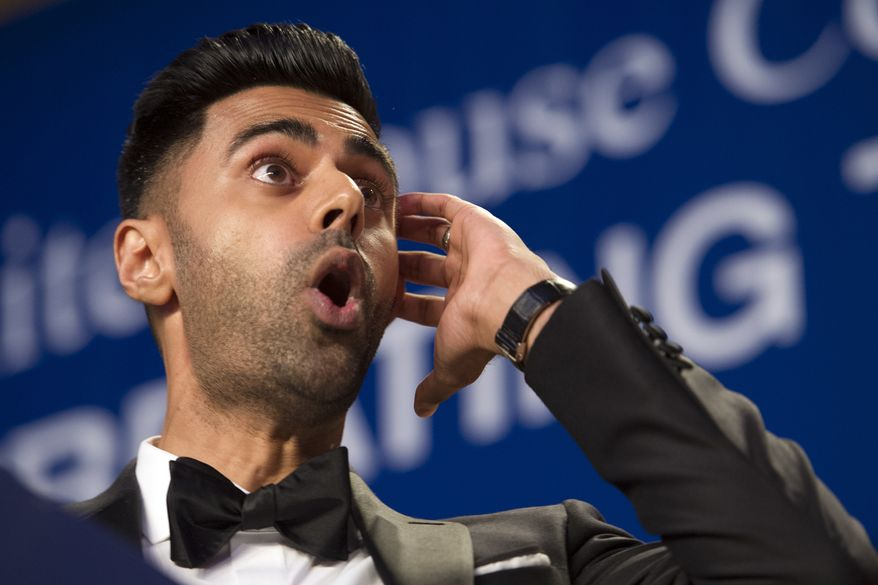 The Daily Show correspondent Hasan Minhaj entertains the White House Correspondents' Dinner in Washington, Saturday, April 29, 2017. (AP Photo/Cliff Owen)