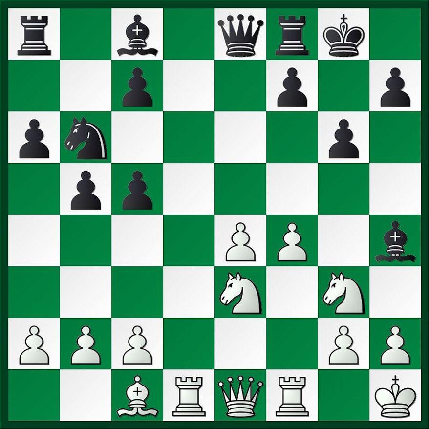 Zvorykina-Gladkov after 19...Bf6-h4.