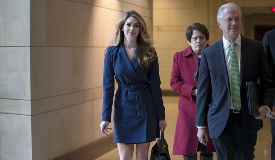 fe17e410b180 White House Communications Director Hope Hicks, one of President Trump's  closest aides and advisers, arrives to meet behind closed doors with the  House ...
