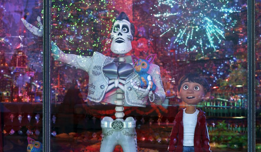 "Miguel meets his hero Ernesto de la Cruz in the Land of the Dead in ""Coco,"" now available on 4K Ultra HD from Walt Disney Studios Home Entertainment."