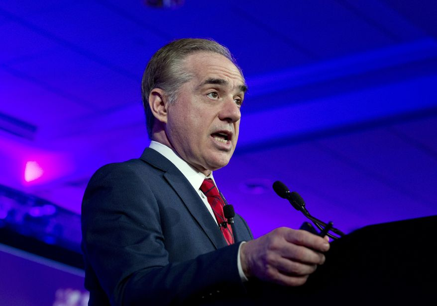 Veterans Affairs Secretary David Shulkin speaks during the panel Caring for our Veterans at the National Governor Association 2018 winter meeting, on Sunday, Feb. 25, 2018, in Washington. (AP Photo/Jose Luis Magana)