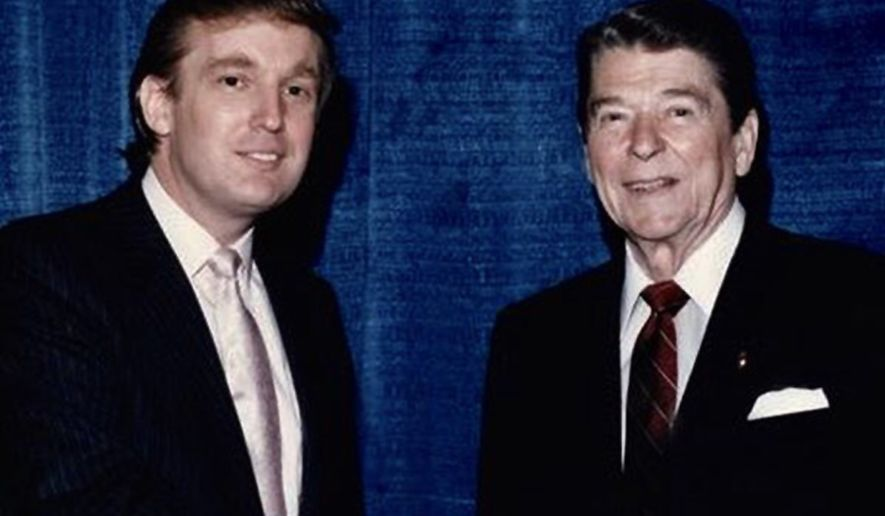 Donald Trump with Ronald Reagan. (https://twitter.com/realdonaldtrump)