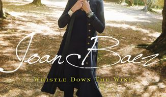 "This cover image released by Bobolink/Razor & Tie Records shows ""Whistle Down The Wind,"" by Joan Baez. (Bobolink/Razor & Tie Records via AP)"