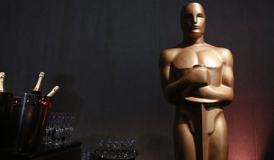 An Oscar statue appears in the ballroom during the 89th Academy Awards Nominees Luncheon at The Beverly Hilton Hotel on Monday, Feb. 5, 2018, in Beverly Hills, Calif. (Photo by Danny Moloshok/Invision/AP)