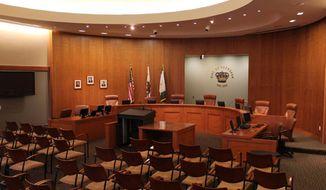 The council chamber for the city council of Coronado, California. (City of Coronado/Facebook) [accessed March 1, 2018]