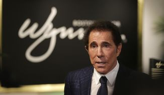 File - In this March 15, 2016, file photo, casino mogul Steve Wynn takes part in a news conference in Medford, Mass. A massage therapist is accusing casino mogul Wynn of using his power to coerce her into sexual acts, the latest woman to allege sexual misconduct against the billionaire. The Las Vegas Review-Journal reported that an unnamed 49-year-old woman filed a civil lawsuit in Nevada on Wednesday, Feb. 28, 2018, against Wynn accusing him of forcing her into sexual acts about a dozen times each year as recently as 2011. (AP Photo/Charles Krupa, File)