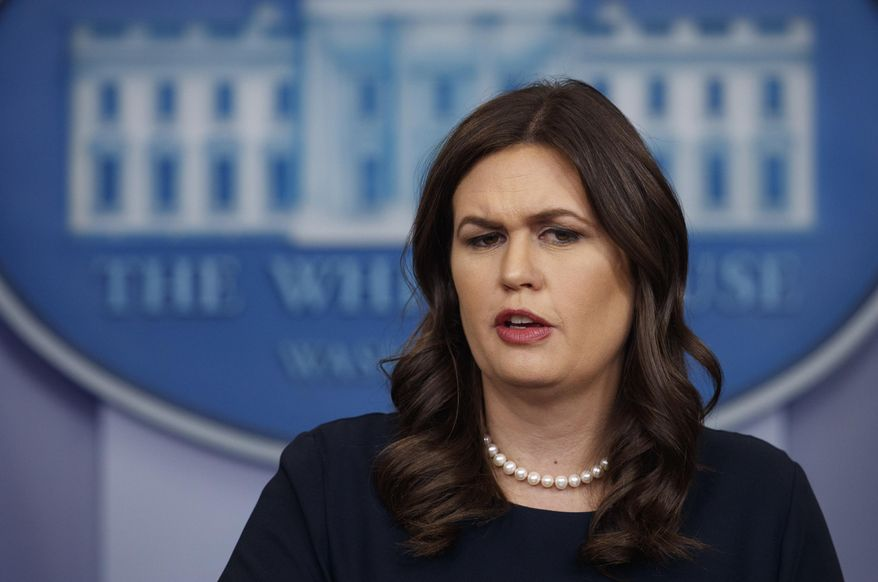 White House press secretary Sarah Huckabee Sanders speaks during the daily news briefing at the White House, in Washington, Thursday, March 1, 2016. (AP Photo/Carolyn Kaster)